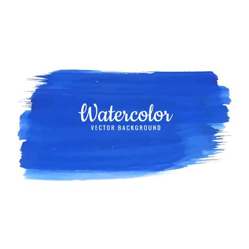 Acuarela azul trazo diseño