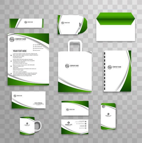 Abstrakt klassisk företagsidentitet affärs brevpapper mall