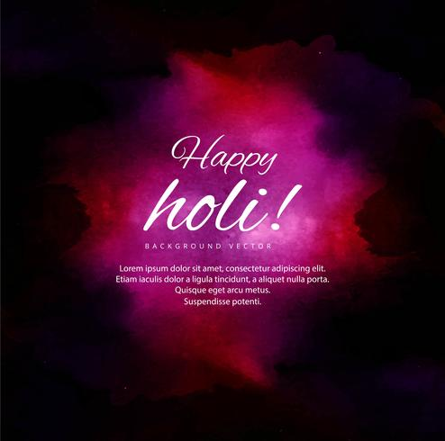 Happy Holi Colorful Background for Festival of Colors celebratio vector