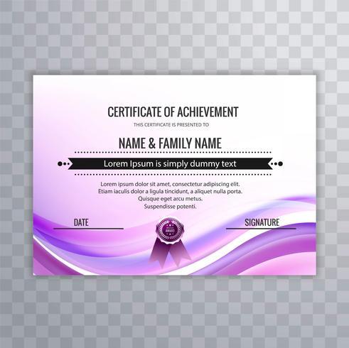 Fondo variopinto astratto del certificato del modello di progettazione dell'onda