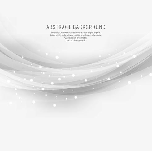 Abstrato onda cinza design em fundo branco