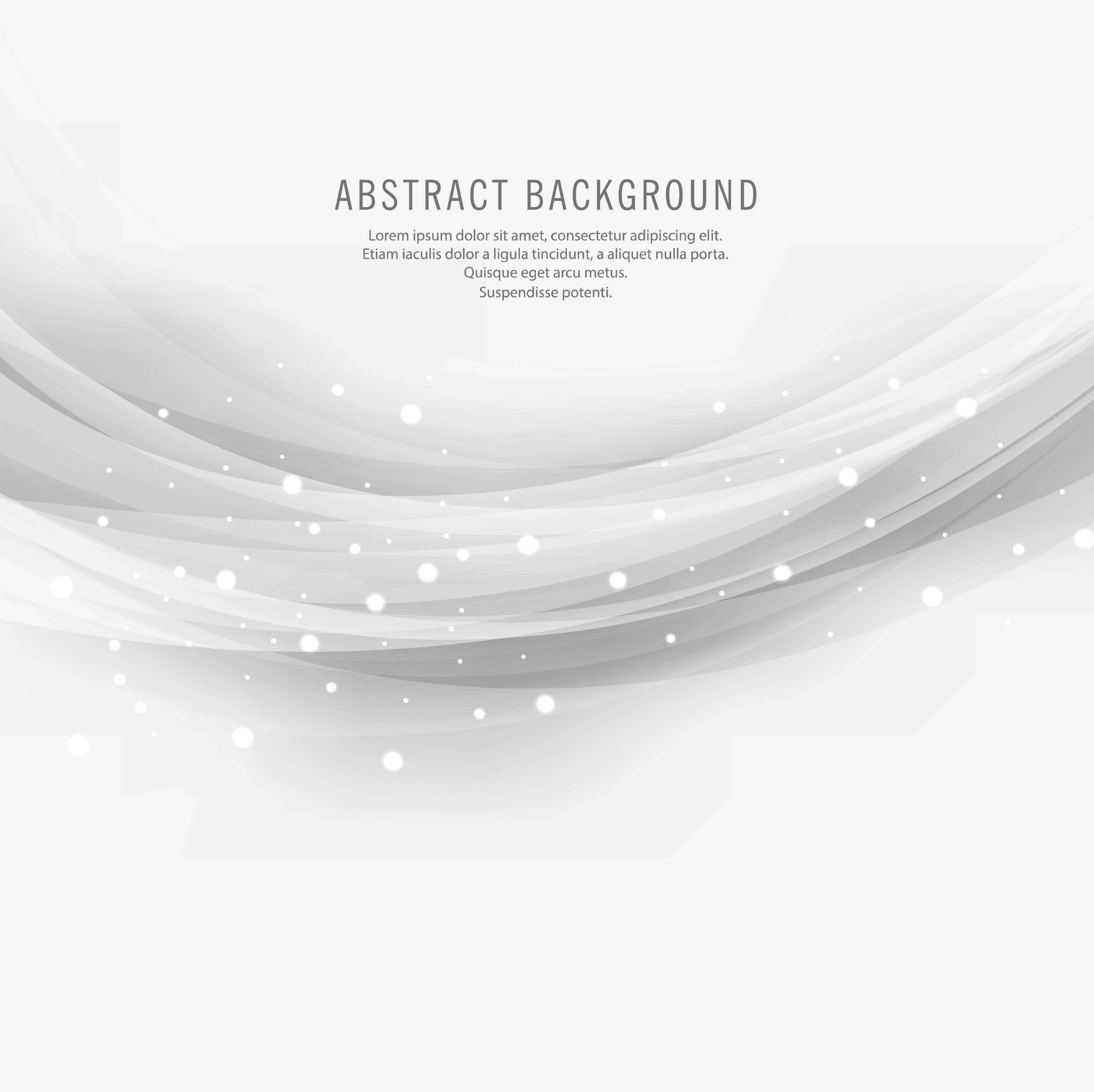 Abstract Gray Wave Design On White Background