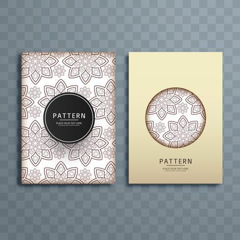 Abstract floral pattern brochure design illustration