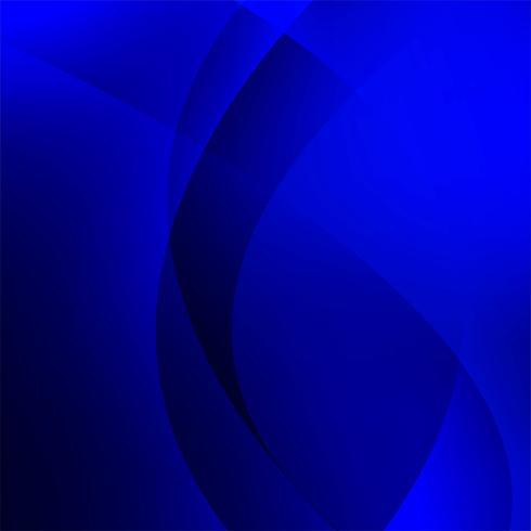 Vecteur de fond élégant vague bleue