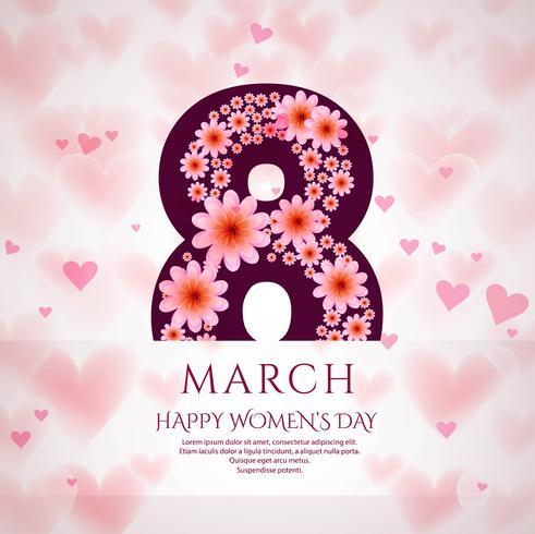 Affiche internationale de la journée de la femme. 8 origami design