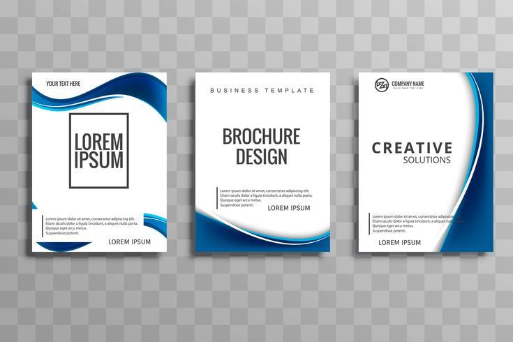 Scénographie de la brochure d'affaires vague élégante élégante