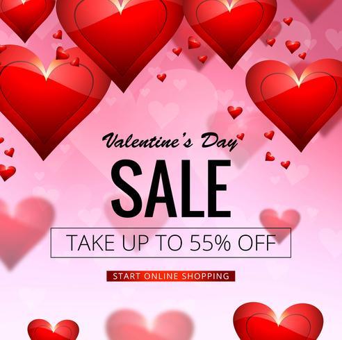 Modern valentine's day sale design illustration