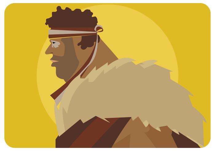 Vector de hombre indigena