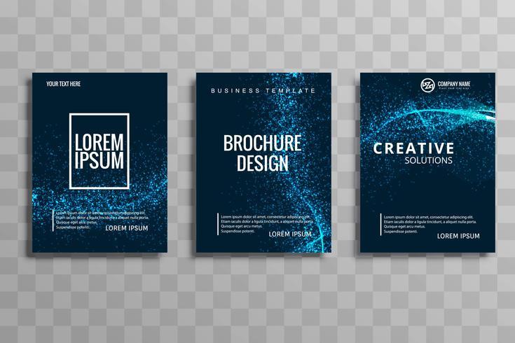 Resumen brillante brillo ola negocio folleto conjunto vector desig