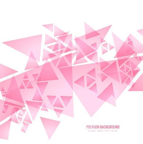 Fundo poligonal rosa moderno