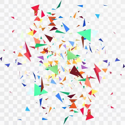 Vacker färgstarka konfetti transparenta bakgrund