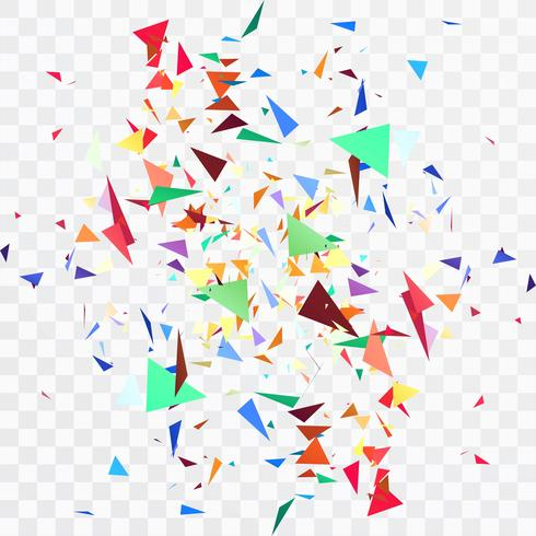 Beautiful colorful confetti transparent background