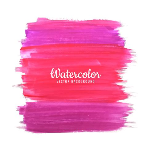 Abstract colorful watercolor strokes on white background