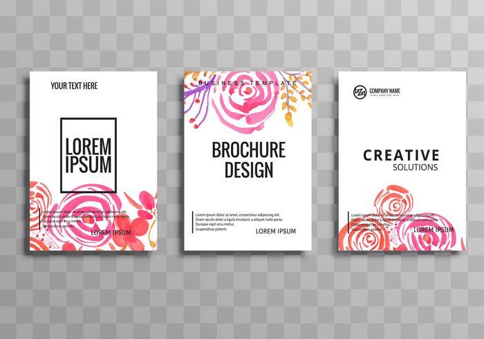 Ensemble de modèles de fleurs abstrait entreprise brochure