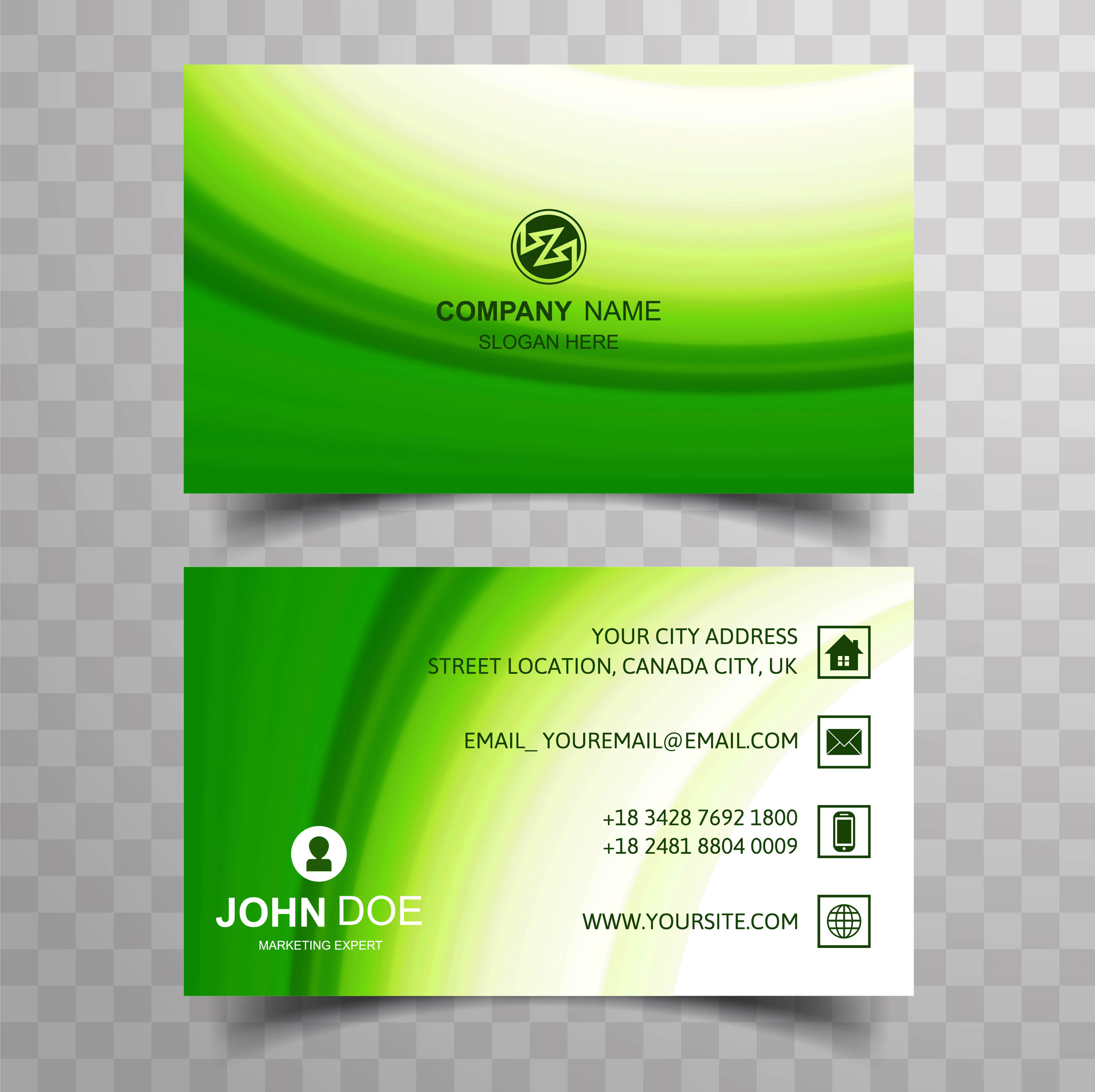Modern business card background 245198 Vector Art at Vecteezy