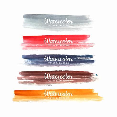 Set med handmålade färgstarka borststrängar design