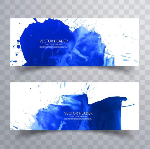 abstrakt handritad blå akvarellplask bakgrund