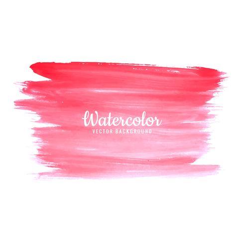 Dessin de coups de pinceau aquarelle abstraite rose vif