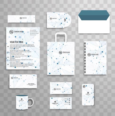 Modèle de papeterie d'entreprise abstraite classique d'identité d'entreprise