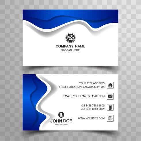 Modern business card background
