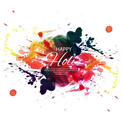 Glad Holi Färgglada Bakgrund för Festival of Colors celebratio