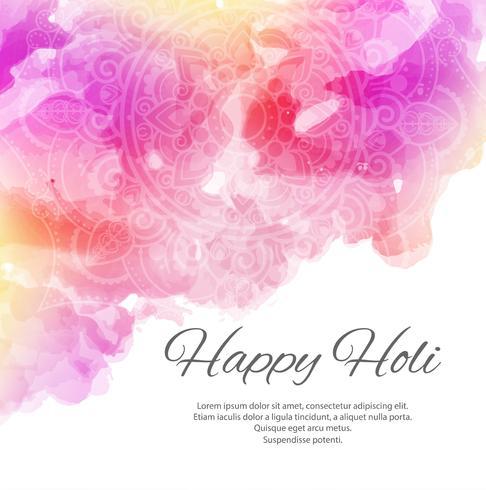 Happy Holi coloré fond magnifique festival