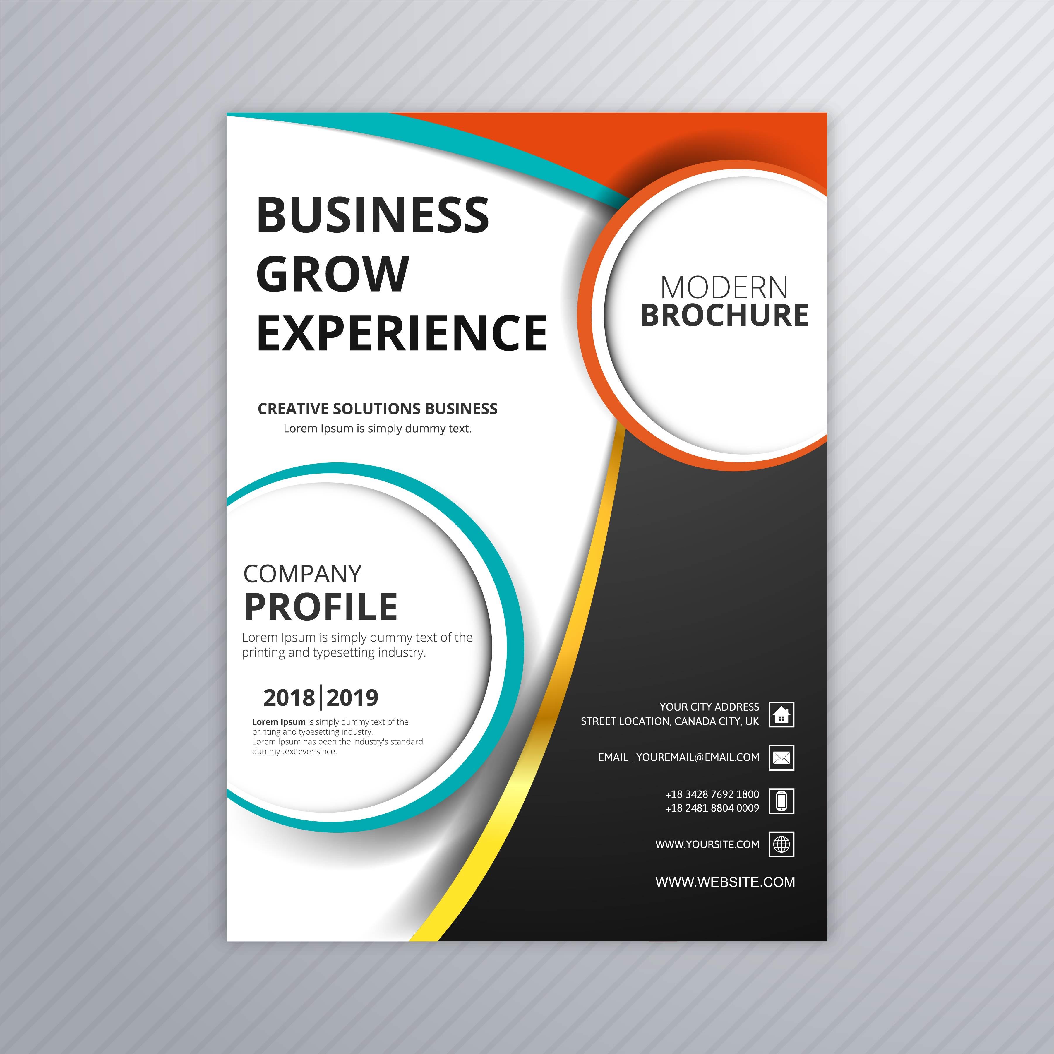 Graphic Design Brochures: Elegant Business Flyer Template Brochure Design