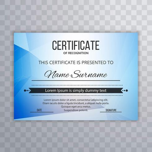 Certificado de plantilla Premium diploma diploma fondo
