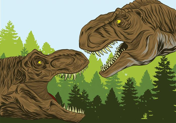 Realistic Dinosaur vector