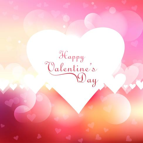 Valentine's hearts beautiful background vector