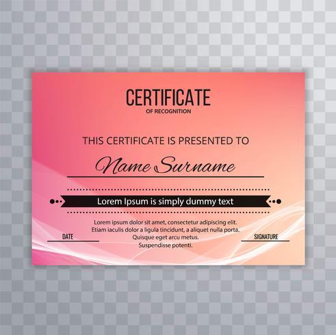 Certificat Premium beau modèle prix diplôme créatif w