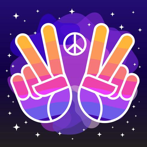 Peace And Love Illustration