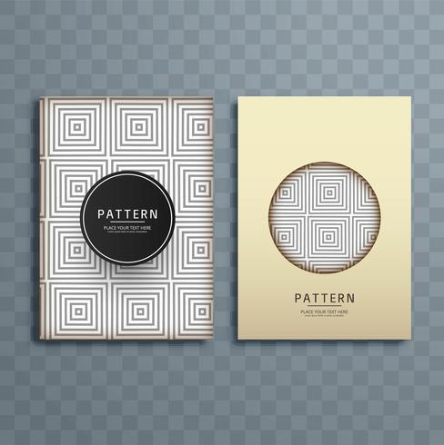 Abstrakt gråmönster broschyr design illustration