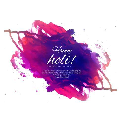 Happy Holi Colorful Background pour la fête des couleurs celebratio
