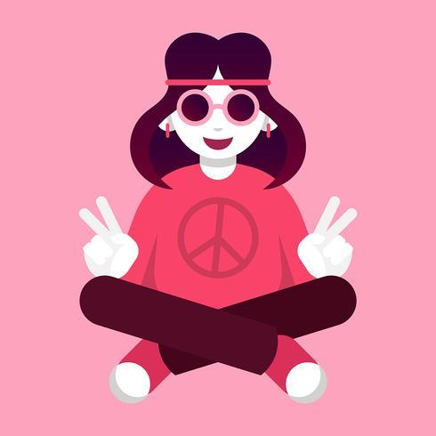 Illustration de paix et d'amour