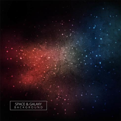 Space galaxy colorful background with nebula stardust design vec