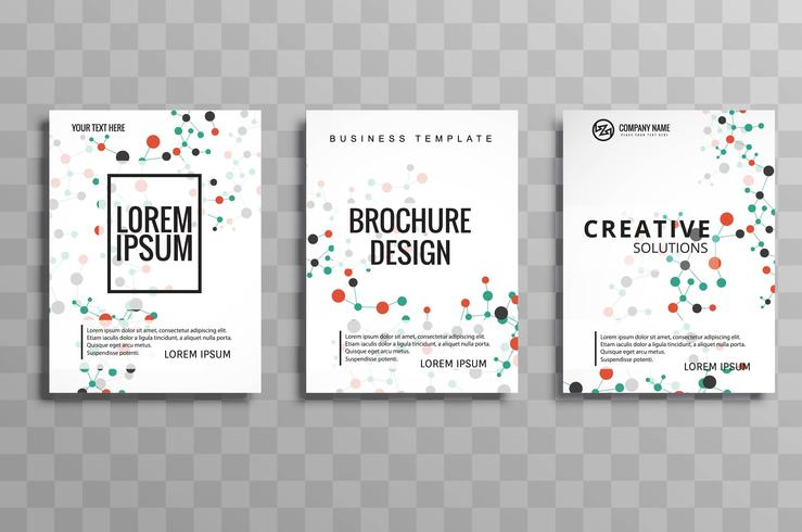 Abstract molecules brochure flyer design illustration