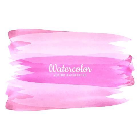 Färgrik rosa akvarell våt penselfärg randig isolerad stänk