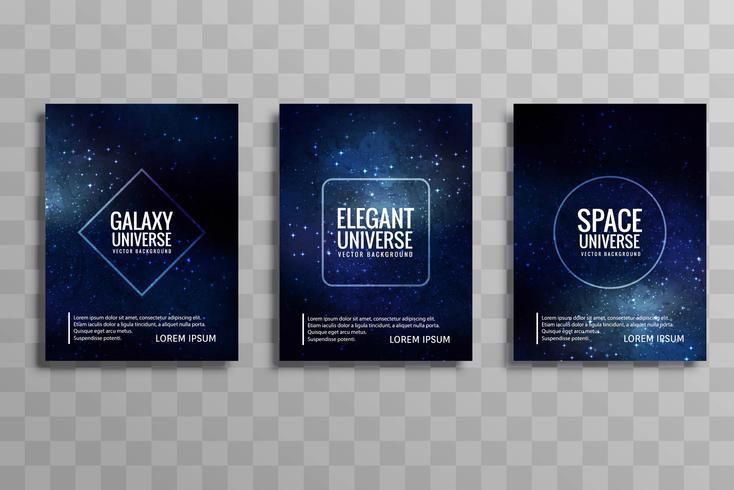 Beautiful galaxy stylie business brochure design set