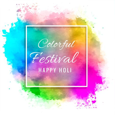 Happy holi colorful festival background illustration vector