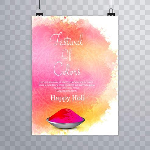 Colorful happy holi brochure design