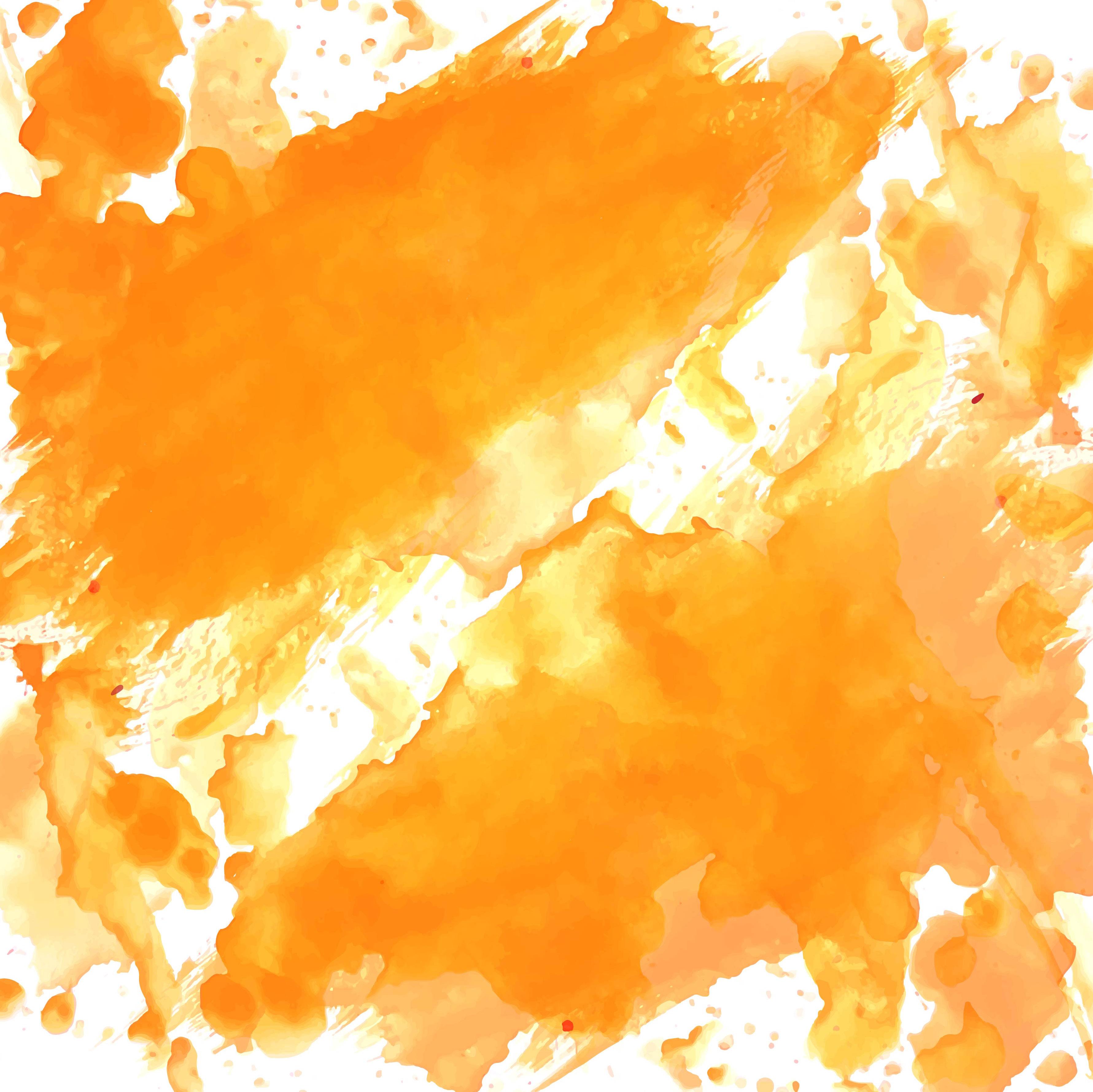 modern orange watercolor background