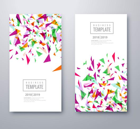 Abstract business colorful confetti template vector