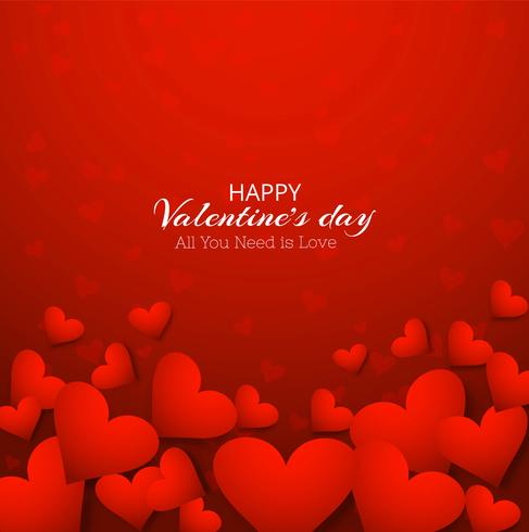 Happy Valentines day red background illustration