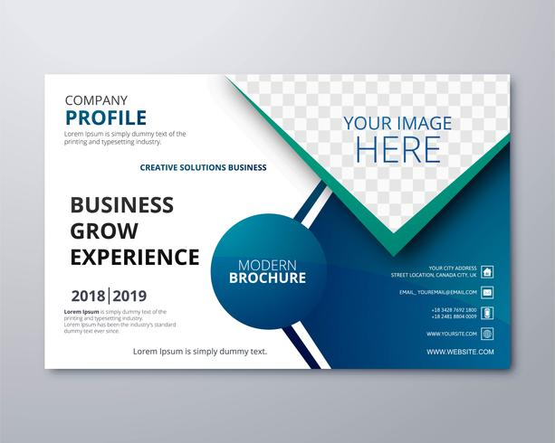 Modern business brochure template vector