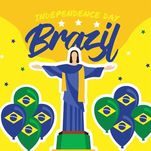 Brasilien-Unabhängigkeitstag-Vektor-Design
