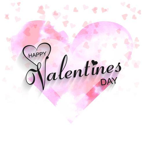 Beautiful heart valentine's day design illustration