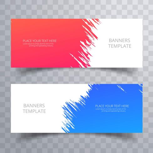 Abstract colorful banners set template design