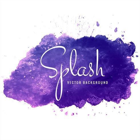Beautiful colorful watercolor splash background vector