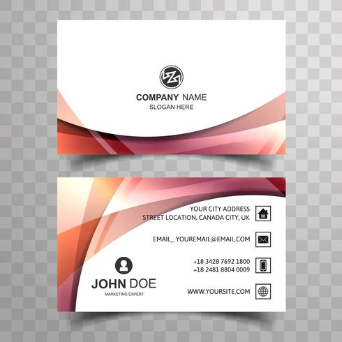Abstract creative colorful business card design template